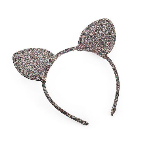 Glitter Covered Cat Ears Alice Hair Band